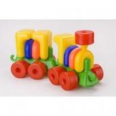 Развивающая игрушка для детей Паровоз с прицепом Toys Plast