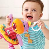 Развивающая игрушка подвеска на коляску, кровать- Бегемот Лулу, Lamaze