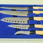 Набор из 5 сверх острых кухонных ножей Gold Sun F105A (Самурай)