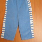 Флисовые спортивные штанишки на 74рост