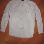 Фланелевая рубашка в клетку L