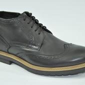 Мужские кожаные ботинки (утепленные)