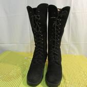 Продам замшевые зимние сапоги-ботинки