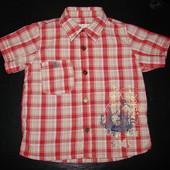 суперовая рубашка mamas&papas 1-1-1.5 года (до 2 можно) состояние новой