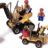 Конструктор для мальчиков Строительная площадка, 196 дет., фигурки, лего-подобный, арт. 6092