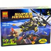 Конструктор Super Heroes-атака Man-Bat, 185 дет., фигурки, лего-подобный, арт. 10226