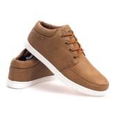 Мужские спортивные туфли на шнуровке коричневого цвета