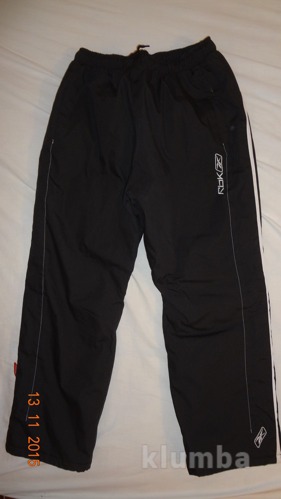 Продаю теплющие брюки reebok мальчику рост 160 фото №1