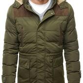 Мужская куртка парка пуховик пальто зима