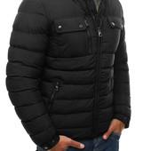 Мужская короткая зимняя стёганая куртка