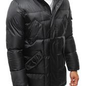 Удлинённая мужская зимняя куртка пальто пуховик