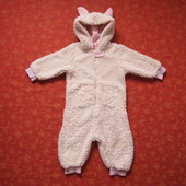 Махровый комбинезон-человечек-костюм Зайчик на 1,5-2 года, б/у. На последнем фото дефект - очень сла