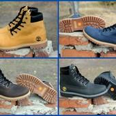 Мужские зимние ботинки в стиле Timberland,  4 цвета ,кожа, нубук, для стильных и модных людей