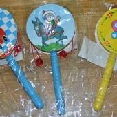 Деревянная игрушка Погремушка-калатушка