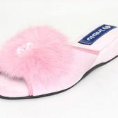100-018  Тапочки женские домашние. Женственные и очаровательные  Цвет - розовый Бренд Inblu