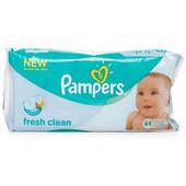 Салфетки Pampers Baby Fresh Clean 64 шт. детские влажные салфетки памперс