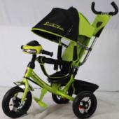 Купить детский трехколесный велосипед bc-17b-AIR фара, надувные колеса Ламборджини зеленый