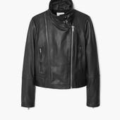 Женская кожаная куртка Mango косуха (размер М)  новая в наличии