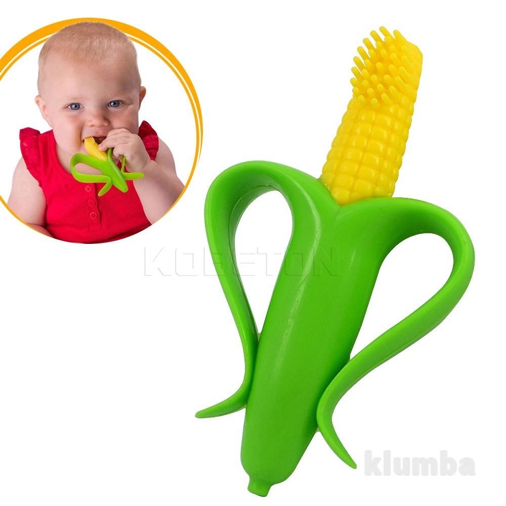 Прорезыватель щётка для зубов - кукурузка (!) фото №1