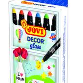 JOVI набор маркеров для декора стекла, керамики, зеркала, 6 цветов и 4 цвета