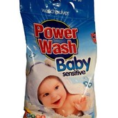 Бесфосфатный детский стиральный порошок Power Wash Baby Sensitive (2,2 кг) Германия