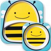 Набор тарелочк Skip Hop Пчелка, огромный выбор, лучшая цена