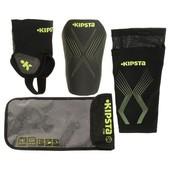 Мягкий щиток для голени для защиты футболиста во время тренировок.Состоит из 3 элементов.