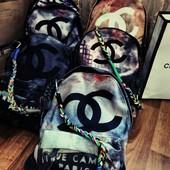 Рюкзак Шанель в цвете Chanel Graffiti ,  Живые фото самая низкая цена