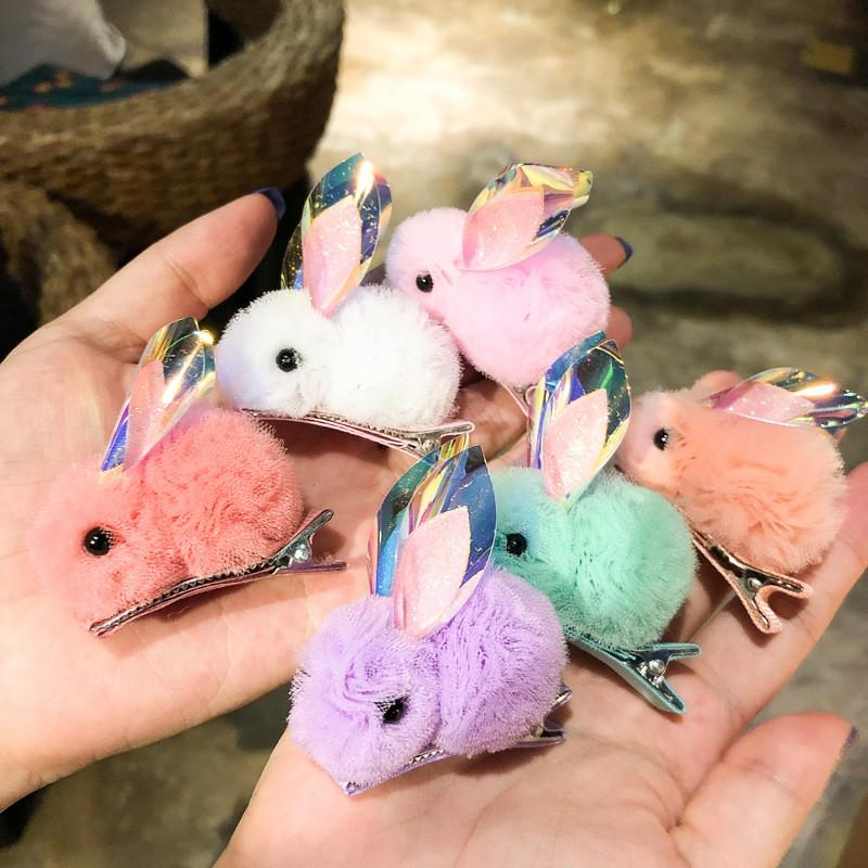Детская заколка. кролик. разные цвета! хит сезона! фото №1