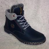 мужские зимние кожаные ботинки Код: tin3 mercer