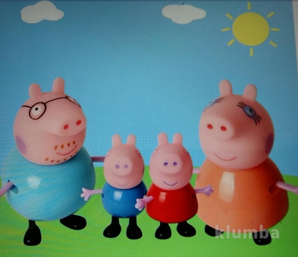 Набор свинка пеппа (pig peppa) и ее семья, 4 шт, новые фото №1
