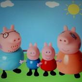 Набор Свинка Пеппа (Pig Peppa) и ее семья, 4 шт, новые