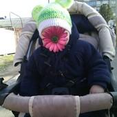 Тёплое пальто на мальчика на холодную весну осень,на 3 6 мес,в комплекте с шапочкой