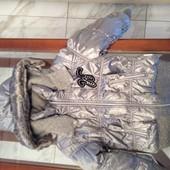 Куртка  зимняя для девочки новая