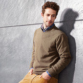 Теплый мужской пуловер свитер р.XL Тcm Tchibo Германия