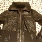 Супер куртка из кожзам.  На 10~11 лет.