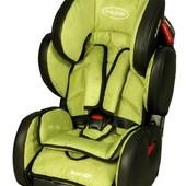 Акция. Эко-кожа, автокресло BabySafe Sport Vip - green 15869, бесплатная доставка