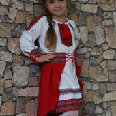 Вышитый костюм на девочку «Стильная Украиночка».