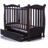 Детская кроватка Верес ЛД15 орех (маятник ящик).