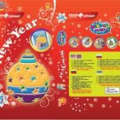Новогодние наборы витражных красок-наклеек