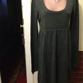 Тёпленькое платье тёмно-серого цвета