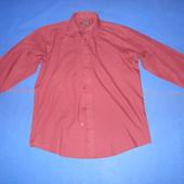 Рубашка мужская с длинным рукавом бордового цвета фирмы george размер EUR 40