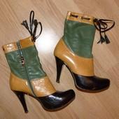 Шикарные кожаные ботиночки, р.37 (24см)