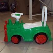 Машинка для катания Паровозик зеленый. Артикул 761