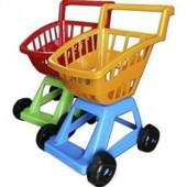 """Детская тележка с корзиной с фруктами и овощами """"Супермаркет"""""""