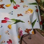 Клеёнка Люкс на стол Летние бабочки 3313, эффектно смотрится!