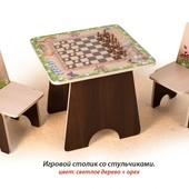 +Видео! Гарантия 2 года! Игровой столик Шахматы+2 стульчика арт.С 4.3, фотопечать, укр. производство