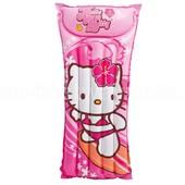 Пляжный надувной матрас Hello Kitty Intex 118*60