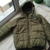Демисезонная курточка Next на мальчика 3-4 года, большемерит