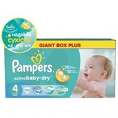 Pampers  Active Baby Maxi 4 (7-14 кг) 106шт